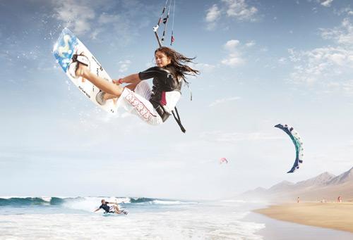 kitesurfing för tjejer