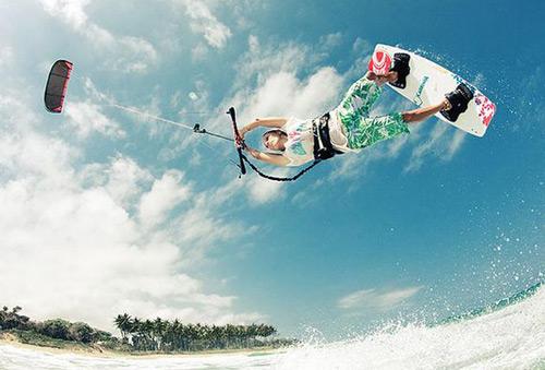 kitesurfing tjejer