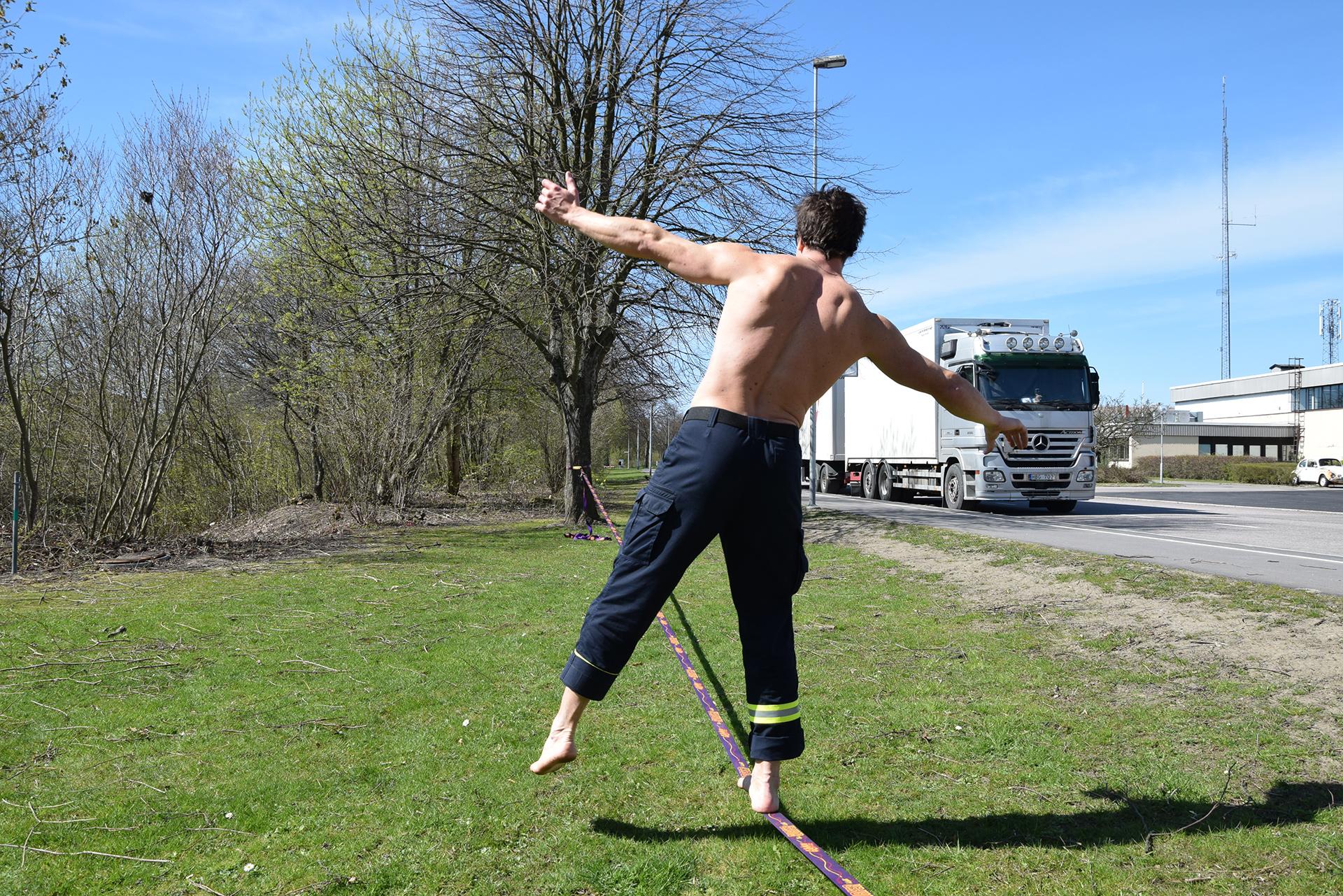 Slackline - bästa träningen när det inte blåser
