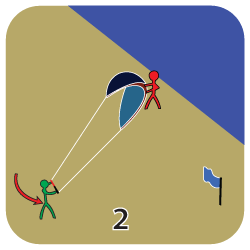 Launch a kite - step 2
