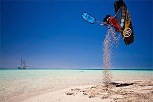 Boardstart from beach